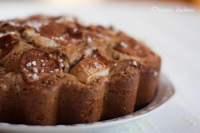 jabłecznik, przepis na jabłecznik, jabłecznik pełnoziarnisty, ciasto pełnoziarniste, przepis na ciasto pełnoziarniste, ciasto z jabłkami