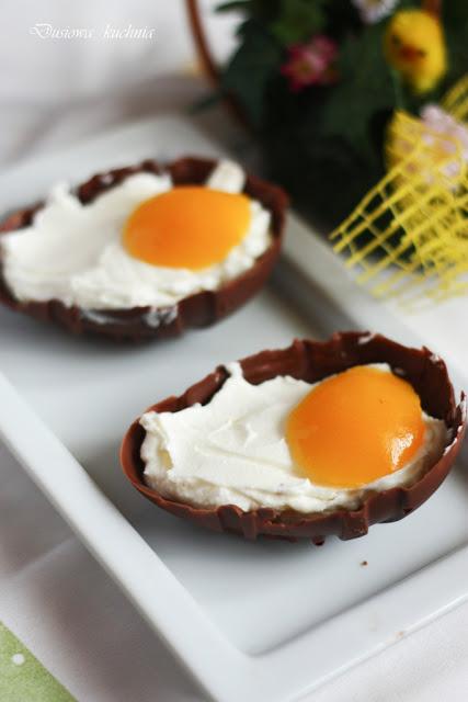 czekoladowe jajka, słodkie jajka, jajka z czekolady,