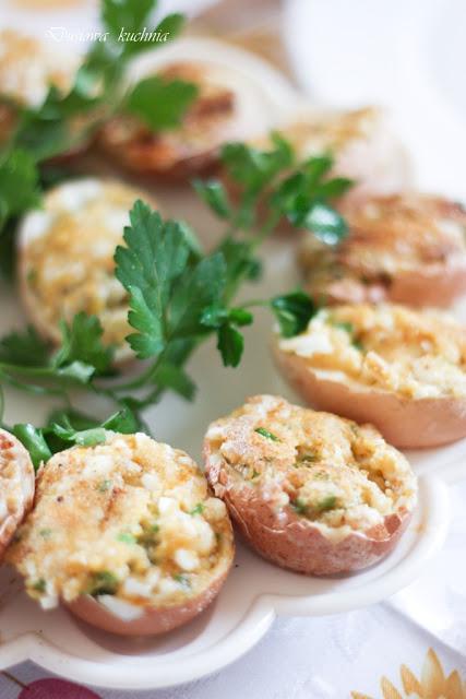 jajka faszerowane na ciepło, jajka faszerowane smażone, jajka faszerowane na ciepło smażone, przepis na jajka faszerowane, jajka faszerowane po polsku