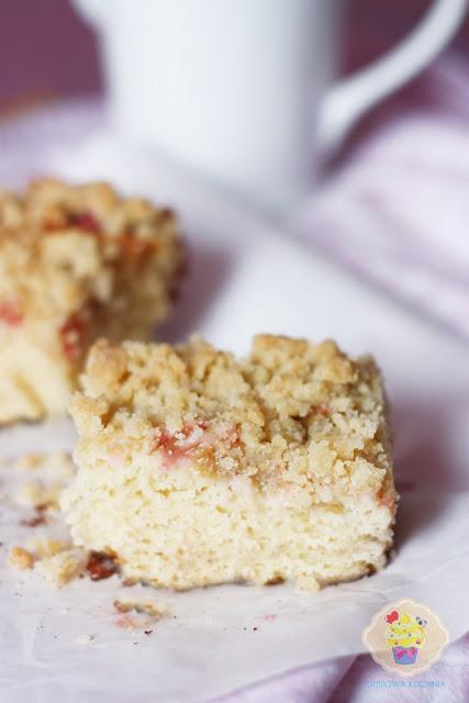 drożdżówka z rabarbarem, ciasto drożdżowe z rabarbarem, ciasto drożdżowe, przepis na drożdżówkę