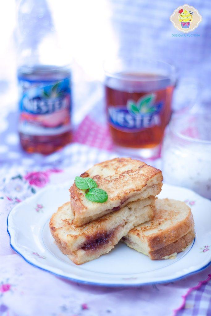 tosty francuskie z powidłami, tosty francuskie z dżemem, tosty francuskie,