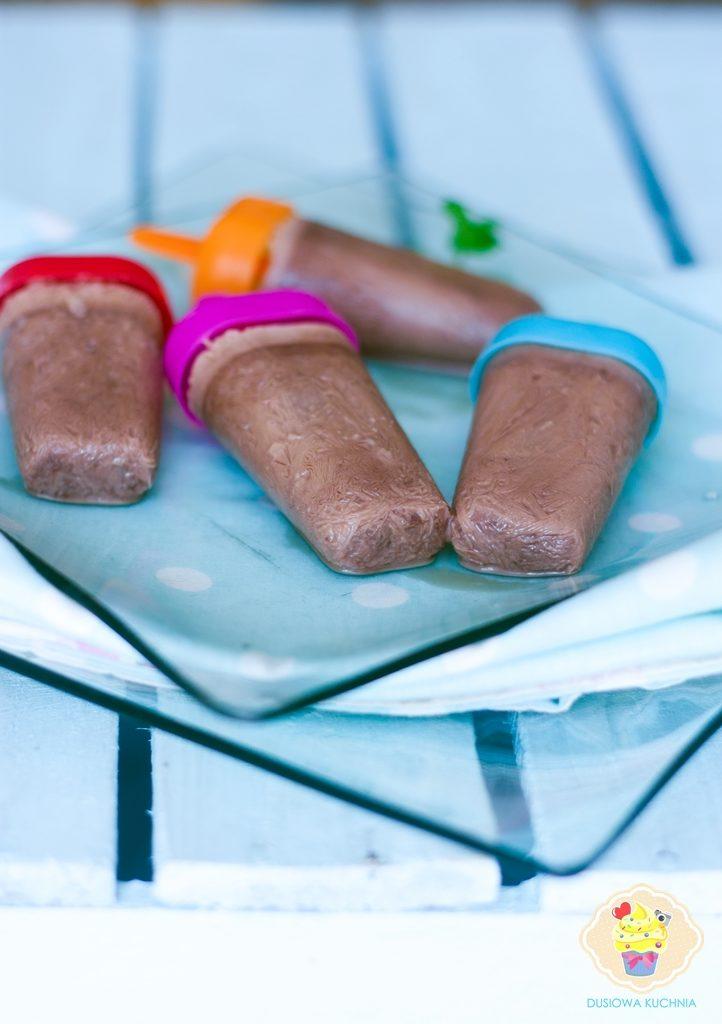lody z nutellą przepis, lody czekoladowe