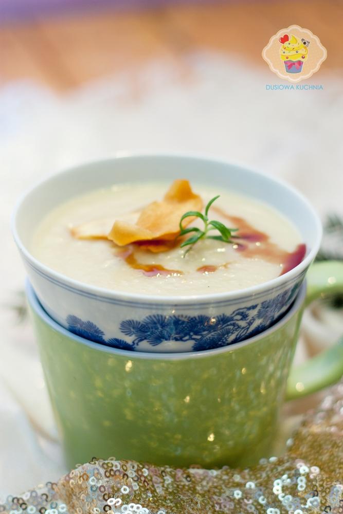 zupa krem z topinambura, krem z topinamburu, zupa z topinamburu, zupa z topinamburem, topinambur przepisy