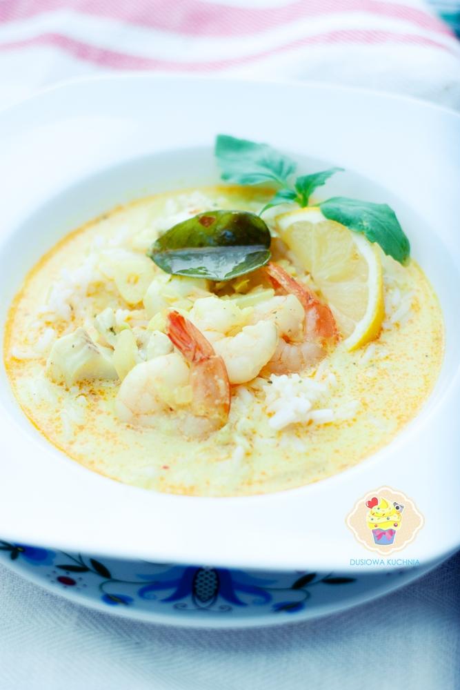 zupa rybna, zupa rybna po tajsku, tajska zupa rybna przepis, zupa rybna z dorszem, zupa rybna z owocami morza, zupa rybna z krewetkami