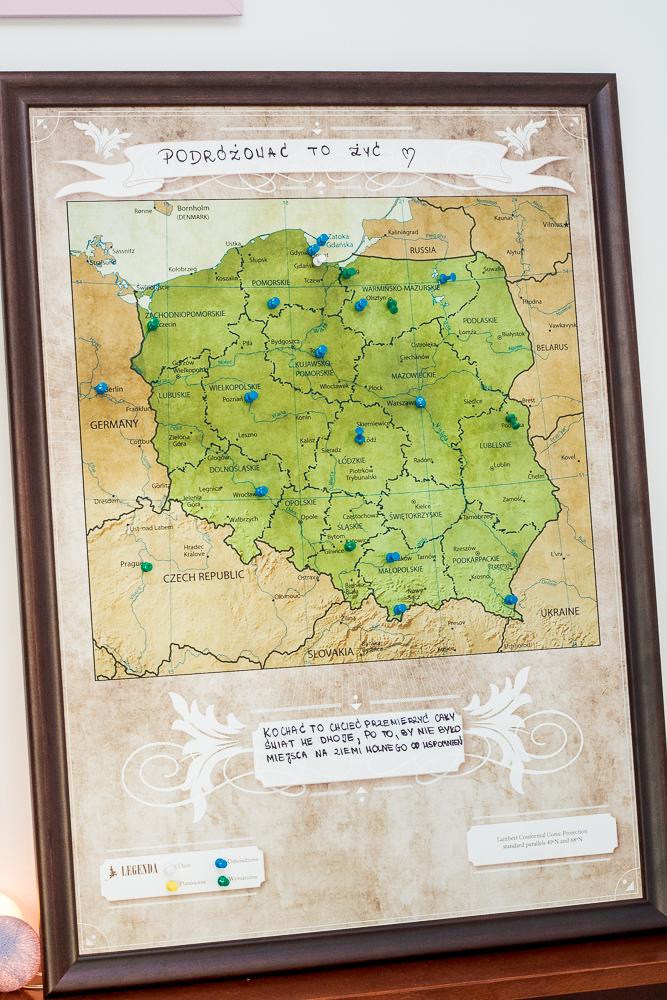 pomysł na prezent mapa podróży
