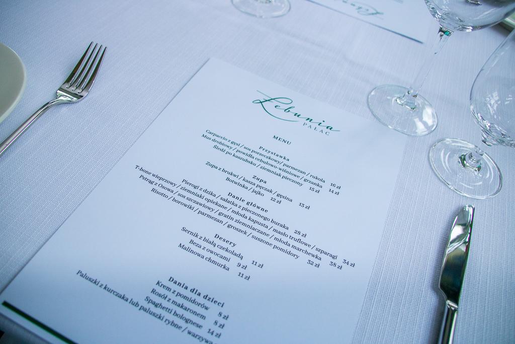 Restauracja w Pałacu Łebunia